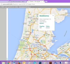 De SEMH website met erkende TEK leveranciers