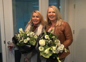 Annette de Bruijn (links) en Renate van Waalwijk van Doorn (re) van huidtherapie praktijk MediDerma